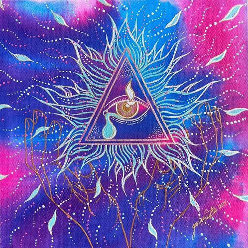 All Seeing Divine Eye - A3 Art Print