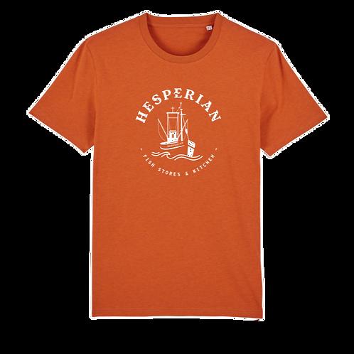 Hesperian T-shirt Orange Central Logo