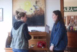 two women work on teambuiding in port jefferson