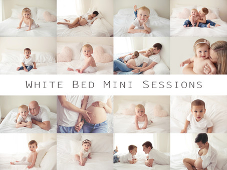 White Bed Mini Sessions | Family Photographer London Essex Kent