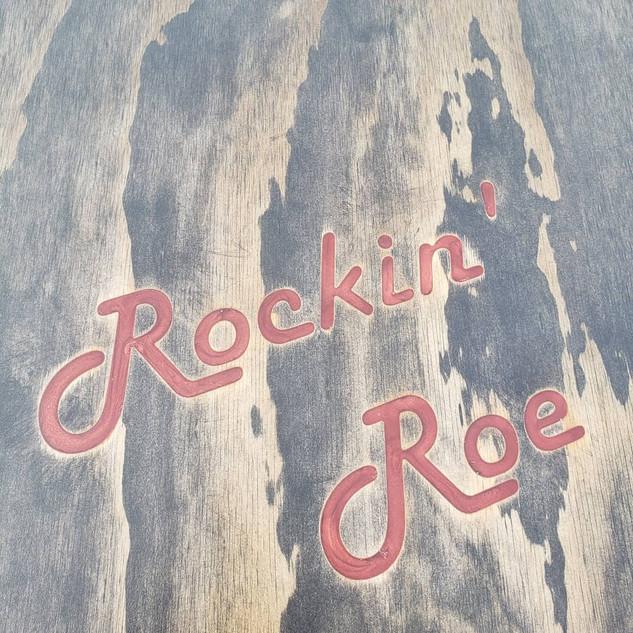 Cornhole Board Rockin' Roe