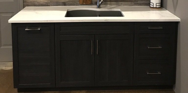 Custom Kitchen Cabinets with Sink for Man Cave
