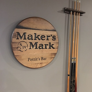 """Maker's Mark"" Custom Made Bar Sign"