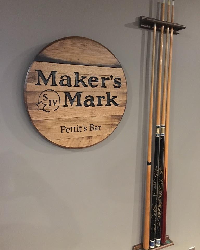 """""""Maker's Mark"""" Custom Made Bar Sign"""