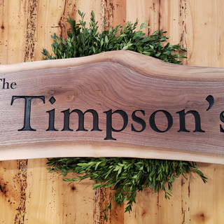 "Family Plaque ""The Timpson's"""