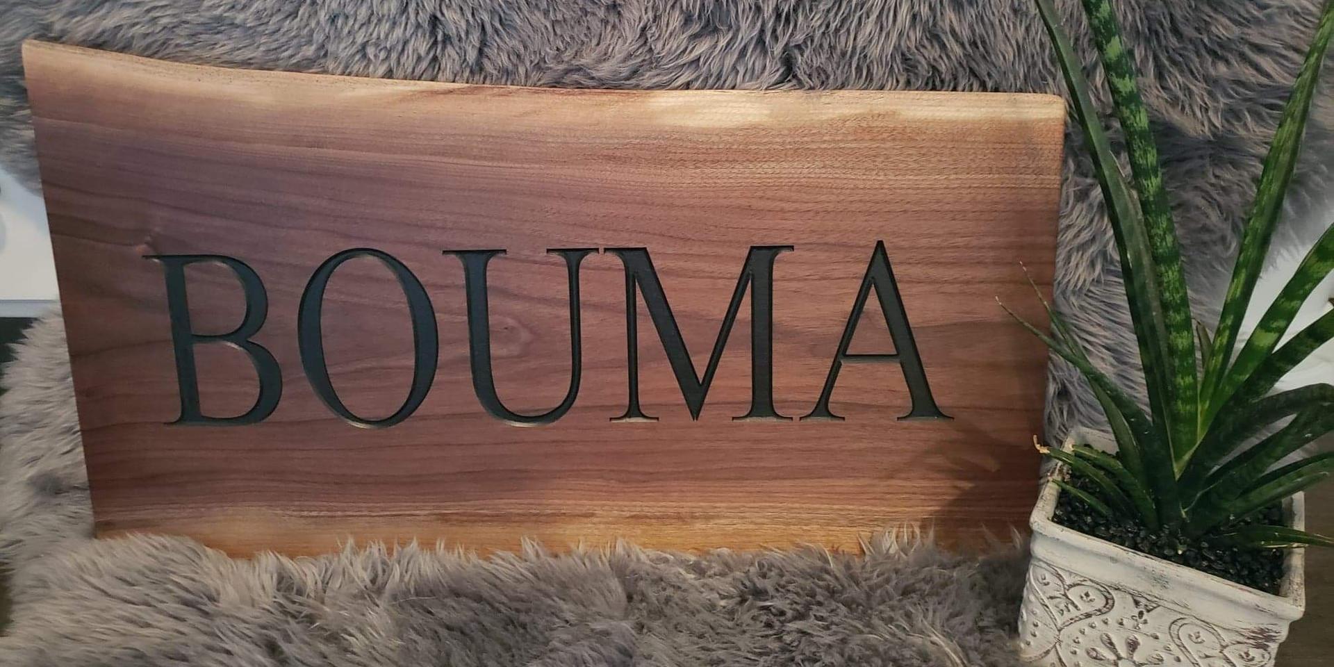 """Family Plaque """"Bouma"""""""
