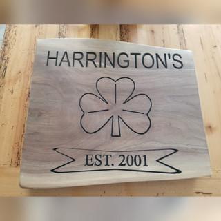 """Harrington's"" Wooden Family Plaque"