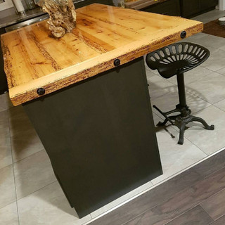 Custom Made Wooden Bar with Stool
