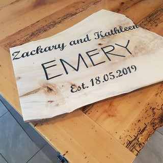 """""""Emery"""" Wooden Family Plaque"""