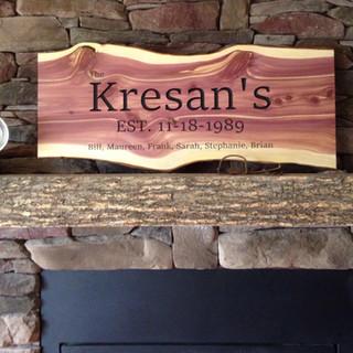 """Kresan's"" Wooden Family Plaque"