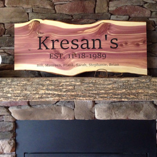 """Kresan's"" Wooden Family Plaque"