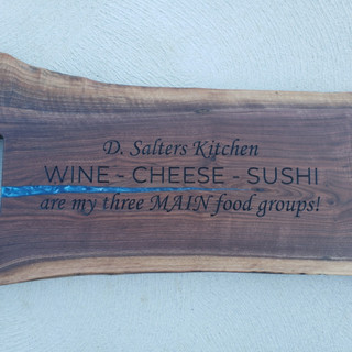 Wine, Cheese and Sushi Charcuterie Board