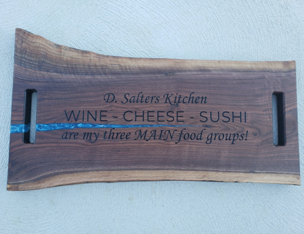 Wine, Cheese,and Sushi Charcuterie Board