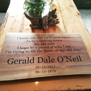 Custom Made Plaque