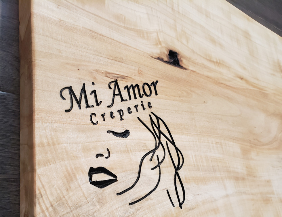 Custom Made Charcuterie Board for Mi Amor Creperie