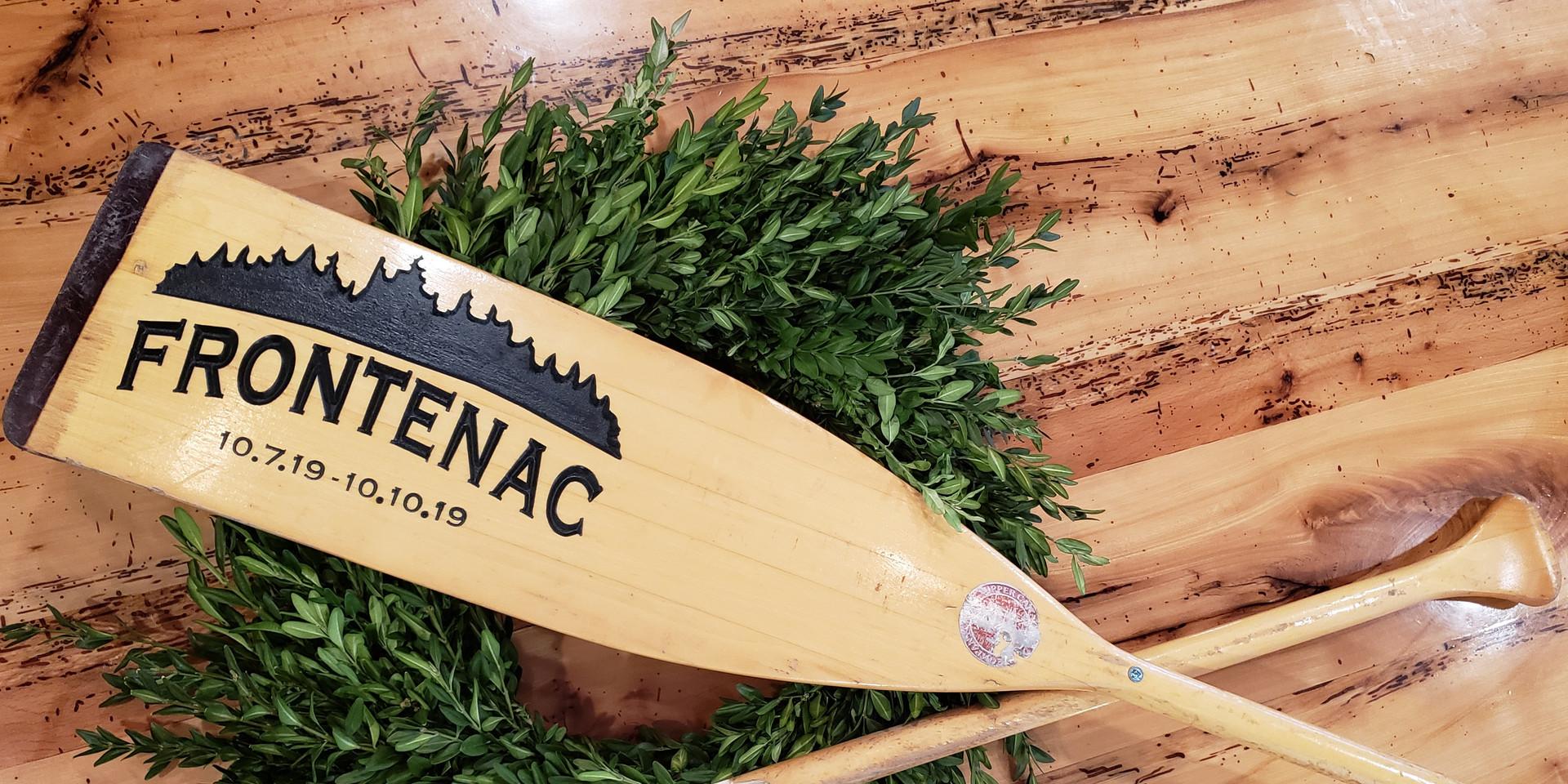 Engraved Canoe Paddle