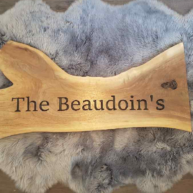 Custom Made Wooden Family Plaque