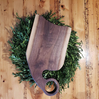 Charcuterie Board with Curved Handle
