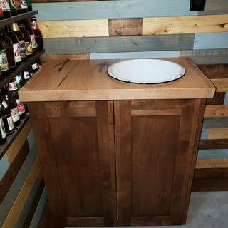 Wooden Cabinet for Man Cave