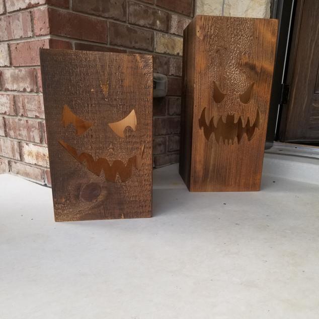 Wooden Pumpkin Boxes for Halloween
