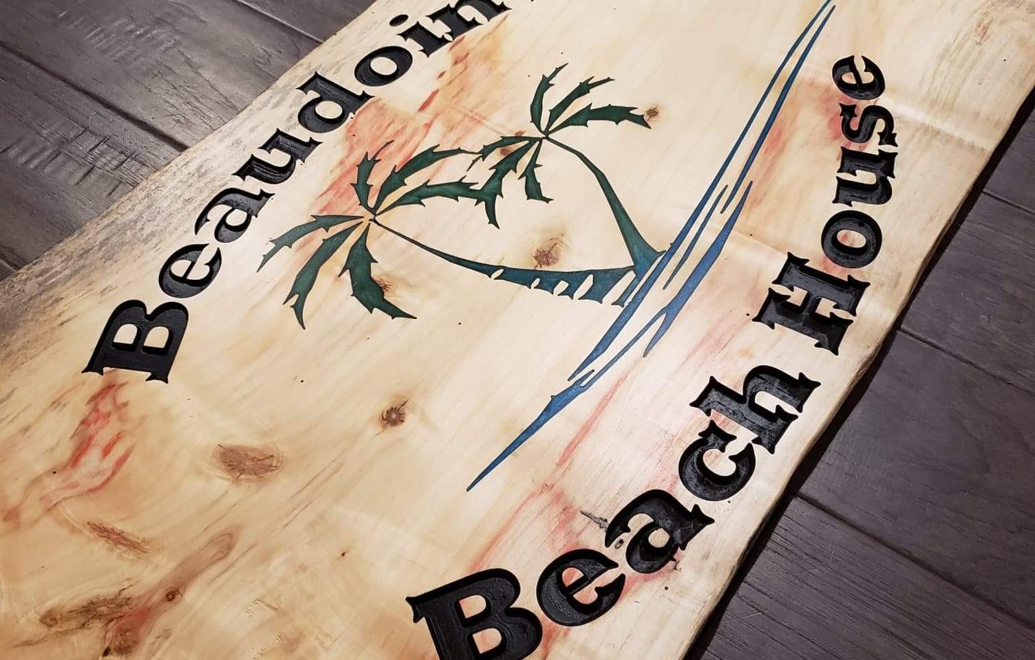 """Custom Plaque """"Beaudoin's Beach House"""""""