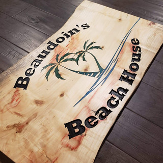 "Custom Plaque ""Beaudoin's Beach House"