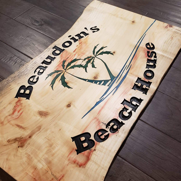 """Custom Plaque """"Beaudoin's Beach House"""