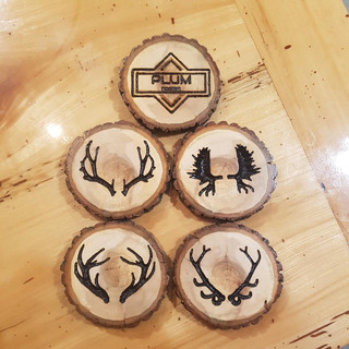 Custom Made Wooden Coasters