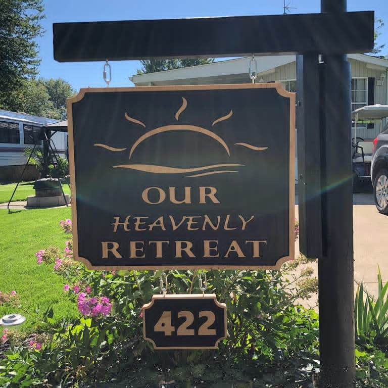 "Custom Made ""Our Heavenly Retreat"" Yard Sign"