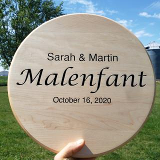 Malenfant Family Plaque