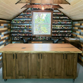 Custom Made Bar on Wheels for Man Cave