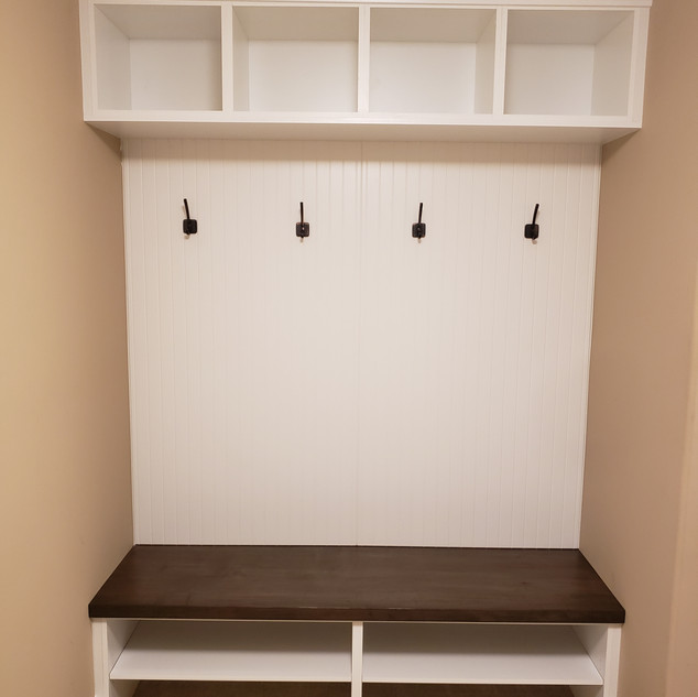 Custom Mudroom Lockers and Bench