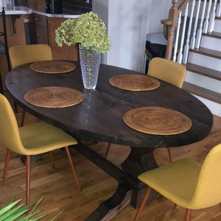 Custom Made Wooden Dining Room Table