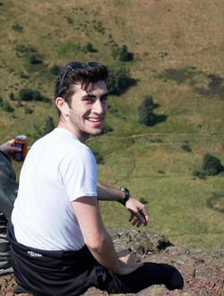 Justin atop Arthur's Seat, Edinburgh