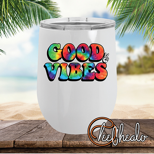 Good Vibes Wine Tumbler