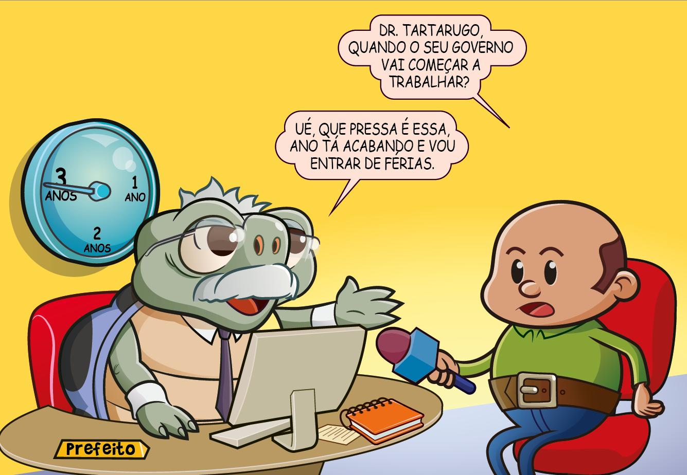 Dr. Tartarugo, o preguiçoso