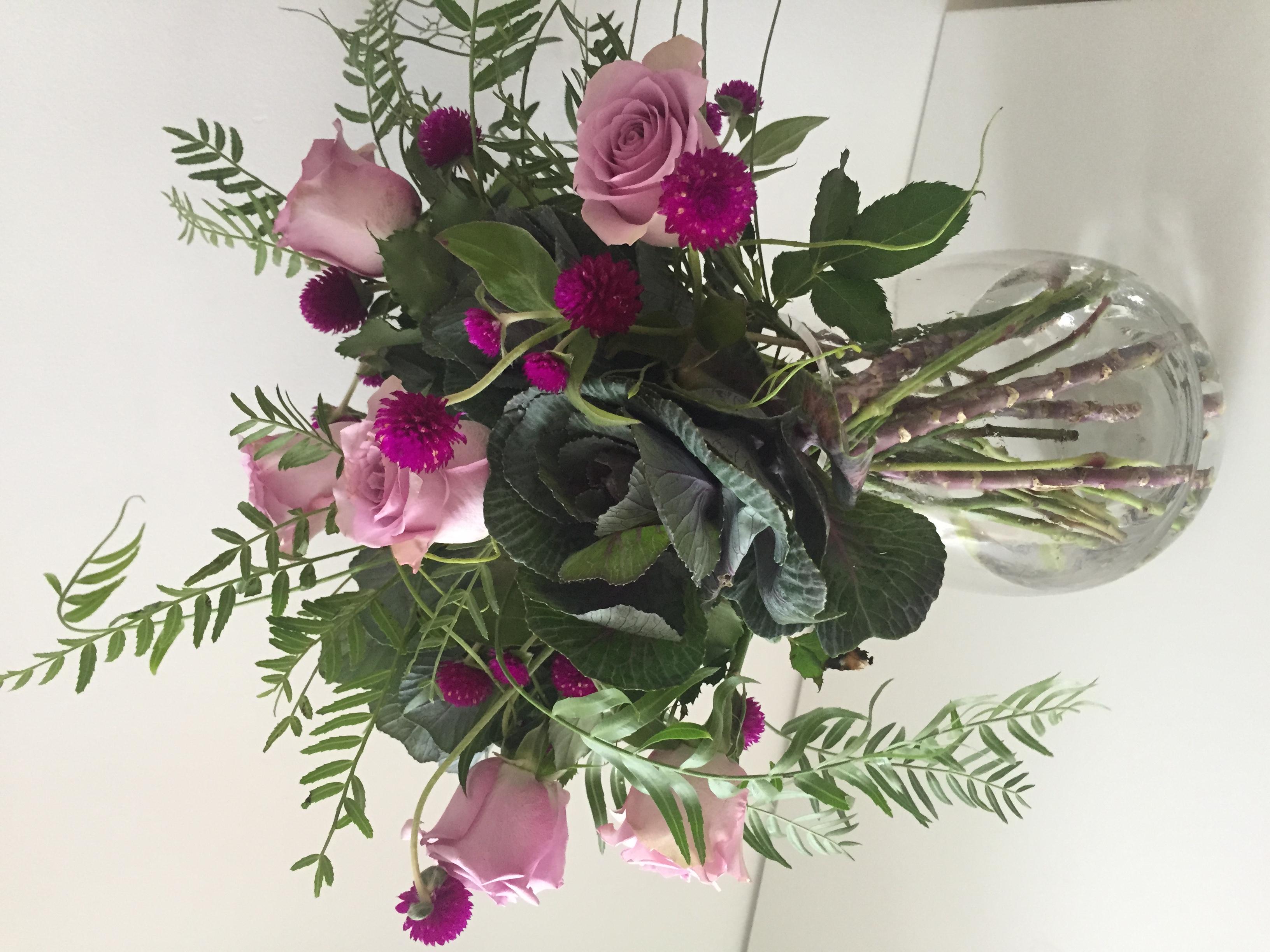 purple tear vase