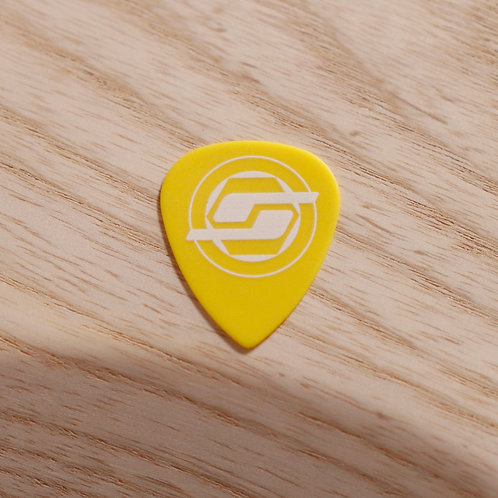 .73mm Yellow (white logo) Delrin Sharp (5 pack)