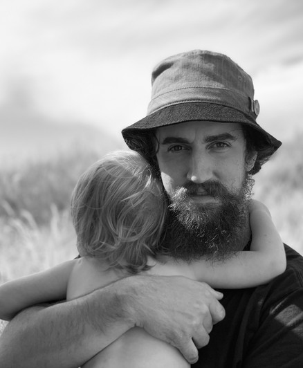 Loving father with child