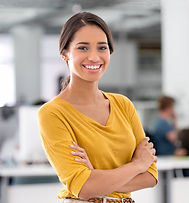 Portret van jonge zakenvrouw