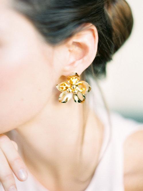 Rosehip Flower Earrings