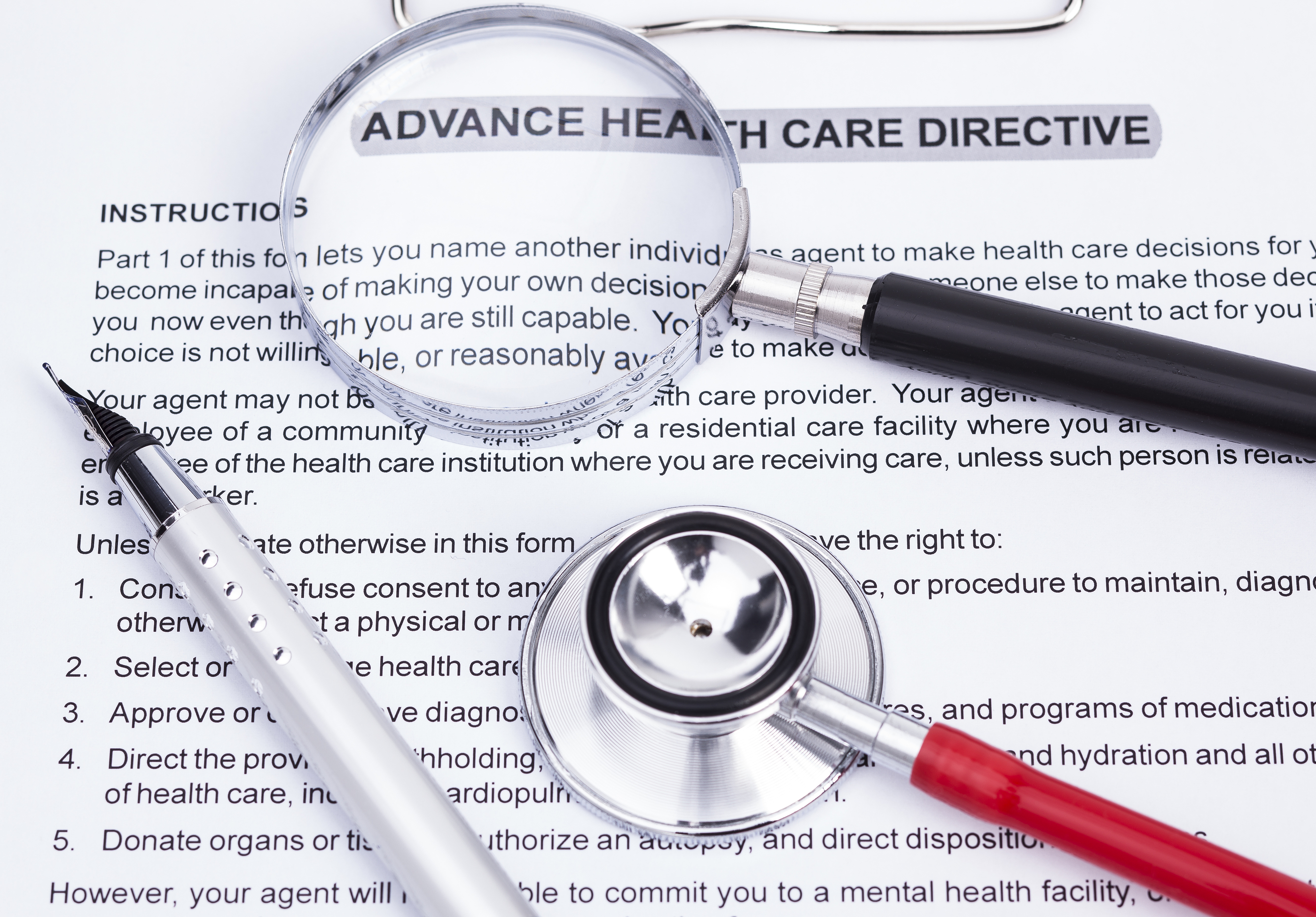 Patient Information about Advanced Directives – Sample Advance Directive Form