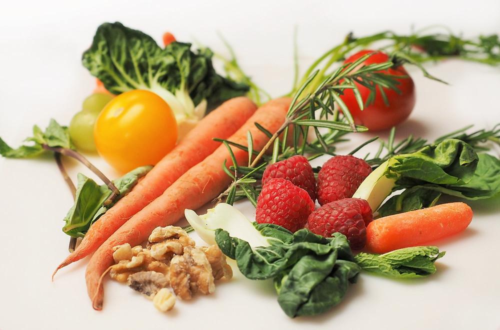different vegetable together