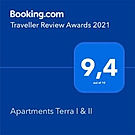 Apartments Terra I&II Booking.com award