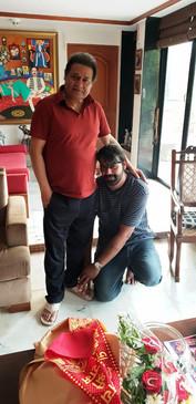 Padma Shri Anup Jalota ji with Singer Siddhant Pruthi