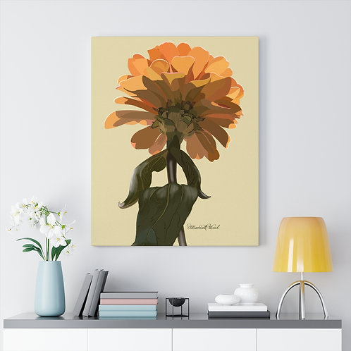 Zinnia Finding the Sun, Canvas Gallery Wraps