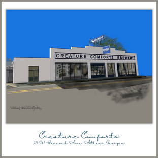 Creature Comforts is a great local brewery and a fun place to meet up with friends.