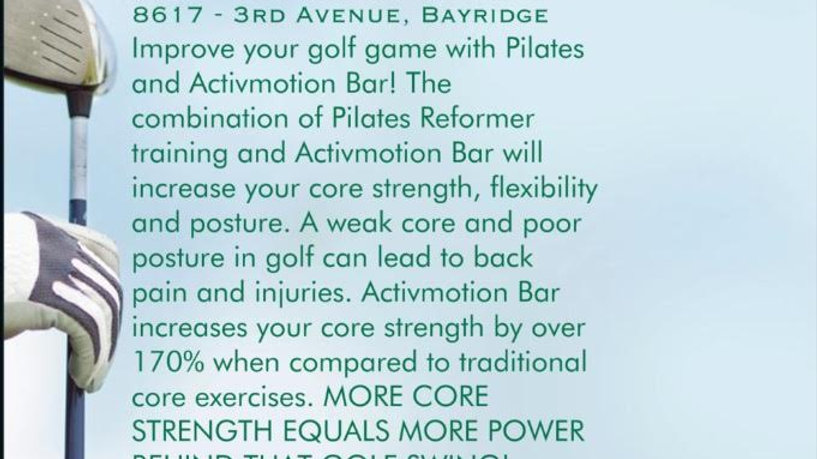 Golf Pilates & Active Motion Bar 1 hour