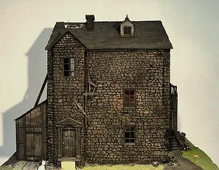 """maquette pour illustrer """"La peur qui rôde"""" de HP Lovecraft"""