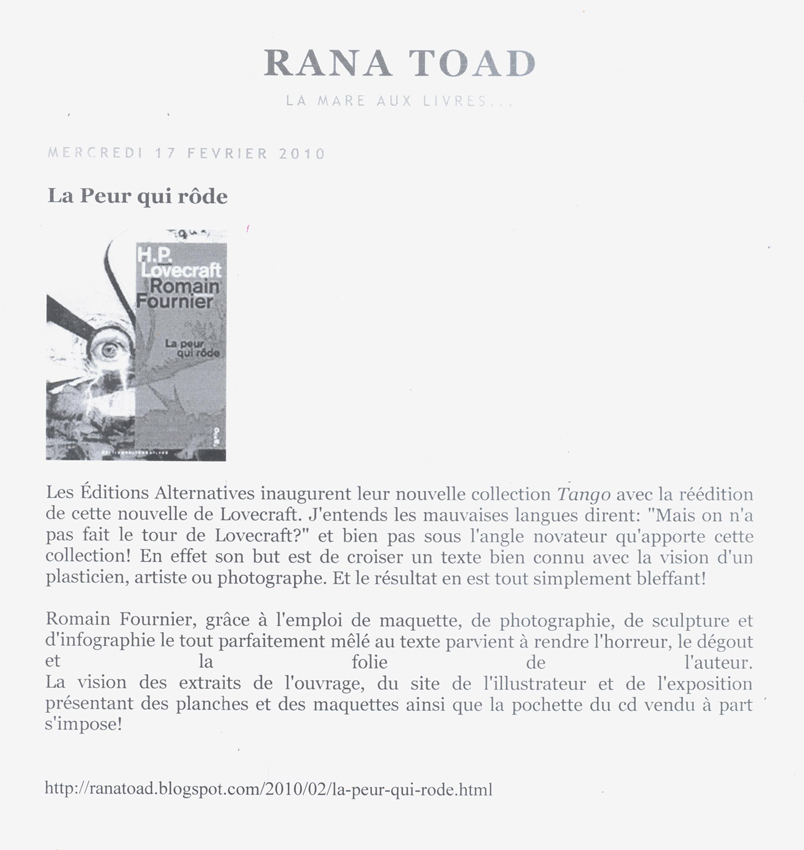 Rana Toad webzine